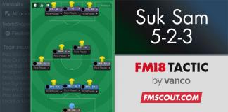 FM 2018 Suk Sam 5-2-3 Hileli Taktik
